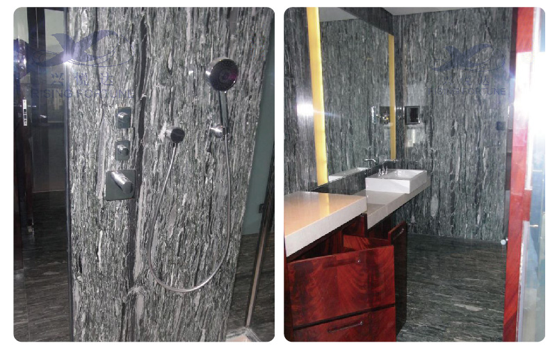 green marble wall tiles