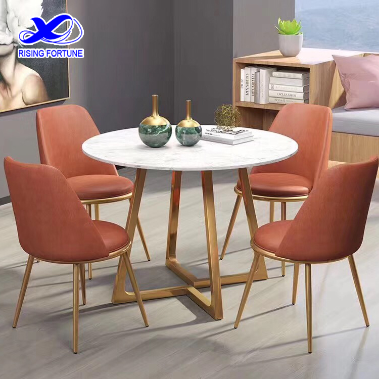 small white marble dining table