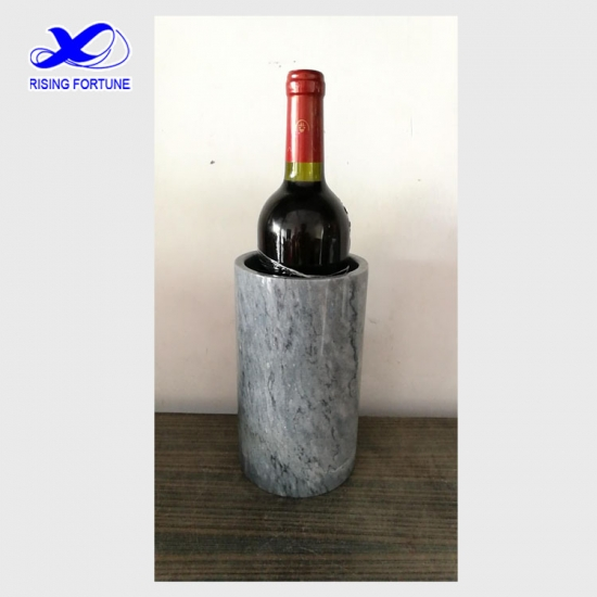 Personalized grey marble wine chiller