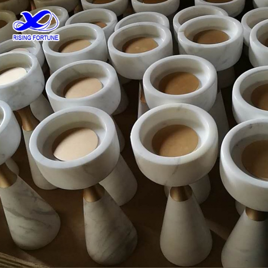 White marble candlestick holders