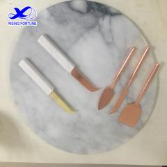 marble handle cheese knives