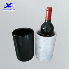 Hand crafted black marble wine bottler cooler