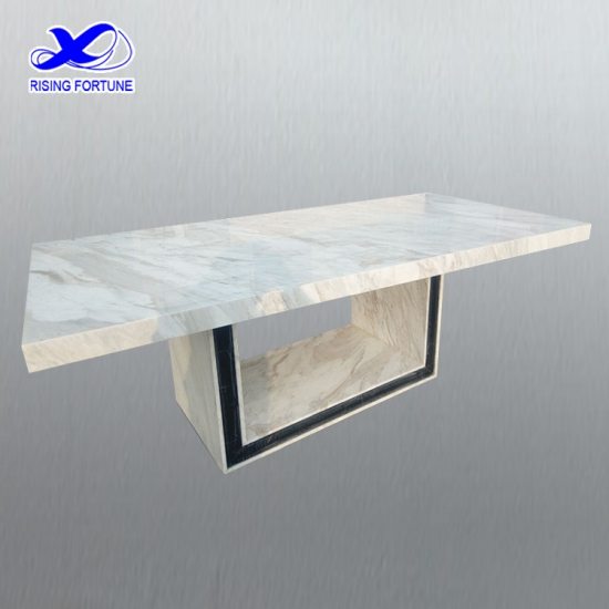 Modern white marble top dining table