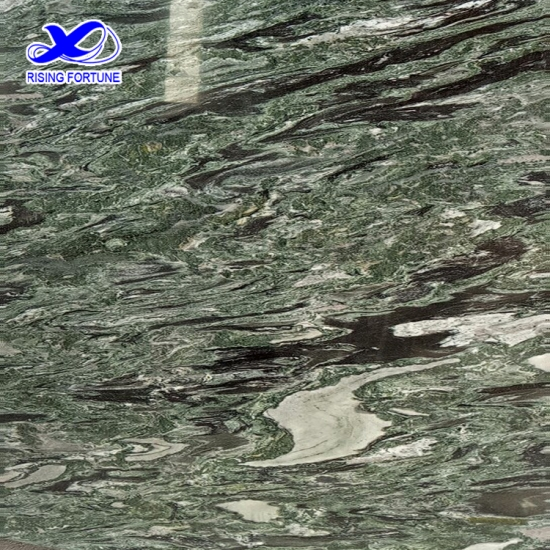Chinese colorful green marble tiles