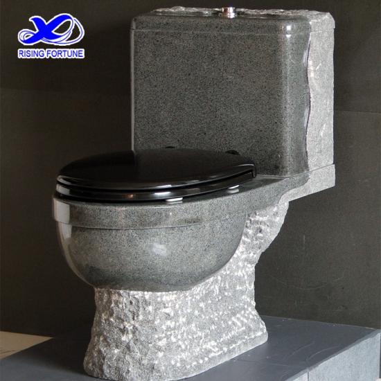 Awe Inspiring Dark Grey Granite Stone Toilet With Plastic Seat Factory Creativecarmelina Interior Chair Design Creativecarmelinacom