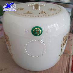 Wholesale Christian white jade ash urn