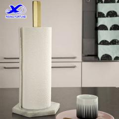 white marble kitchen roll holder