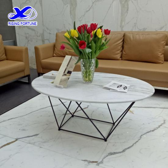 Simple hotel marble sofa table design