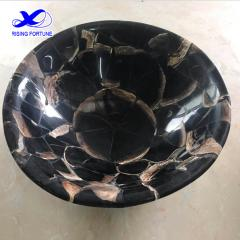 Natural fossil marble stone bathroom sink