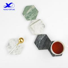 Custom hexagon marble coasters bulk