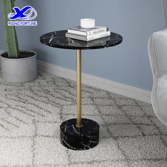 China cafe furniture black marble leisure table