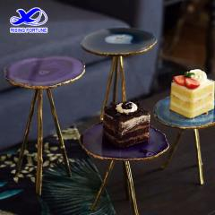 Luxury agate slice restaurant cake stand