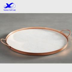round copper serve tray