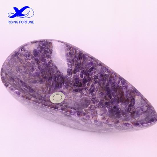 Natural purple amethyst stone sink