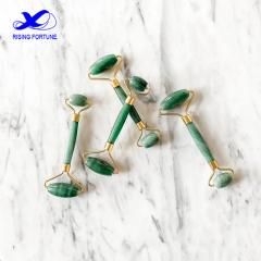 Green jade face roller tool set